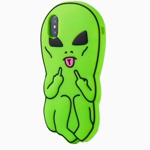 Green alien man phone case ( for xr or x ) 👽